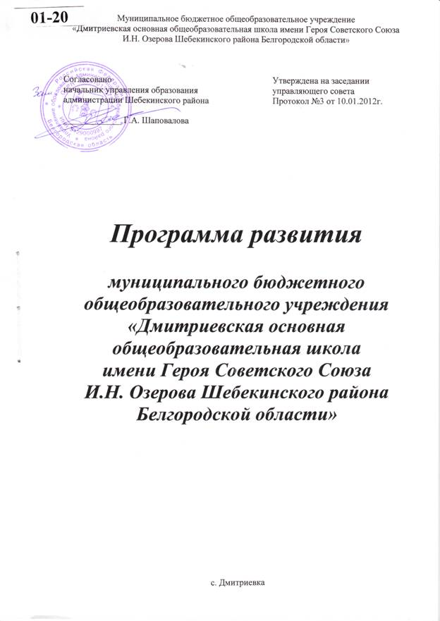 программа развития муниципального учреждения