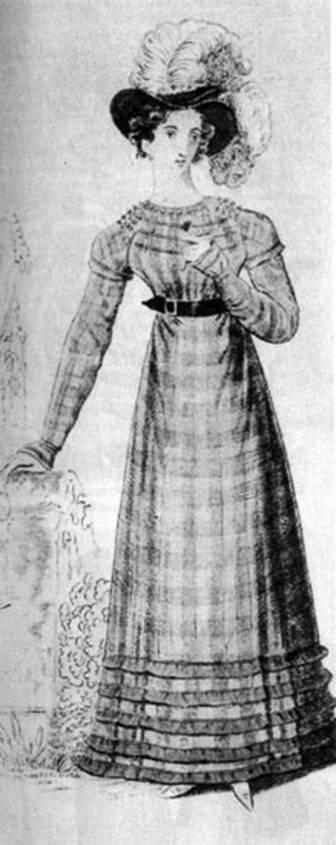 Платье, шляпа с перьями 1822.jpg
