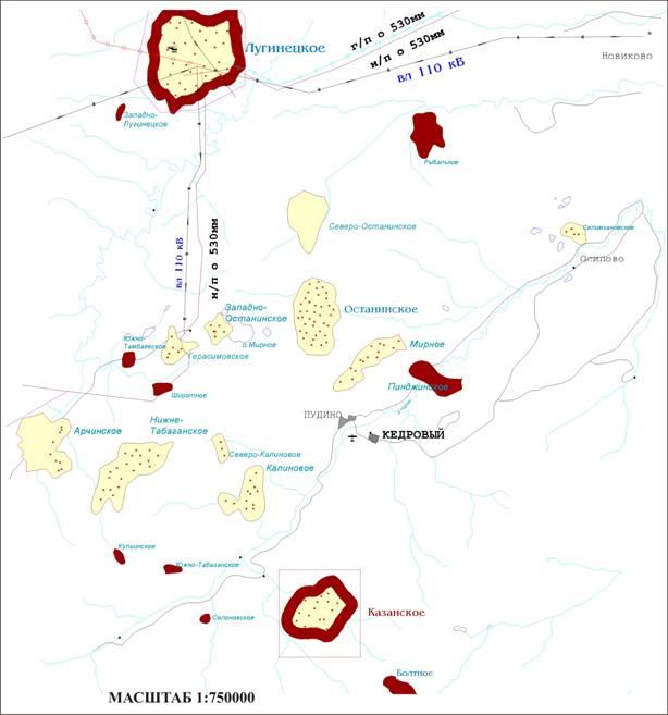 фото останинского месторождения томской области через