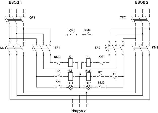 Принципиальная схема АВР-100