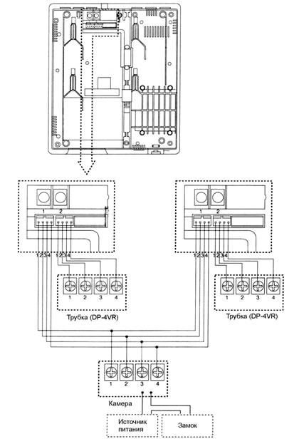 Домофон commax dpv-4ke схема