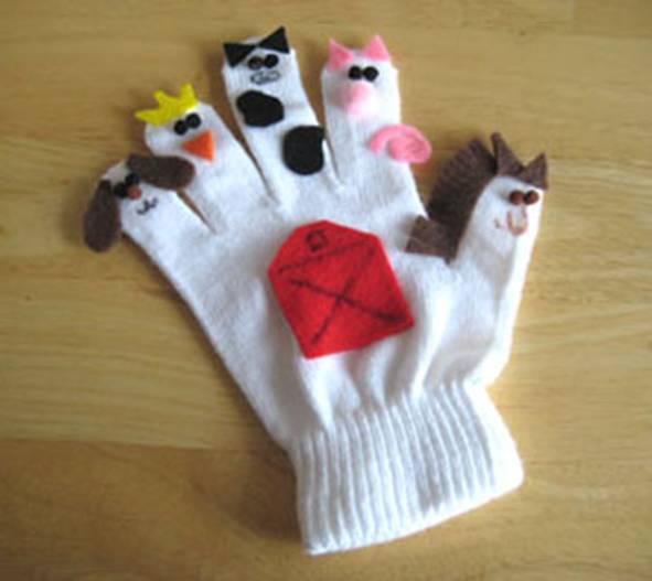 Поделка с перчатки