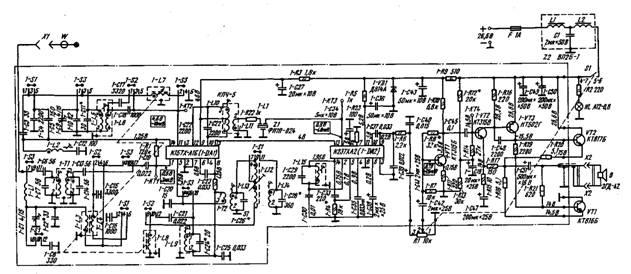принципиальная эл схема приемник атланта ат69