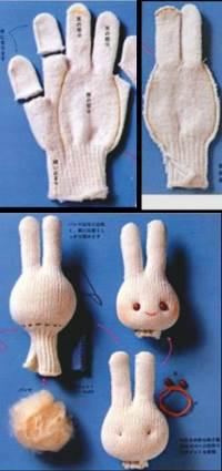 Перчаточная кукла своими руками из перчатки - Кукла перчатка своими руками, петрушка, буратино, дед, лиса, выкройки