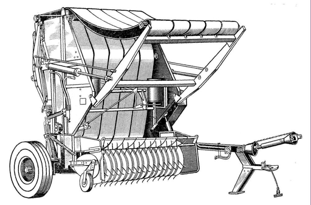 Схема и устройство пресс подборщик 79