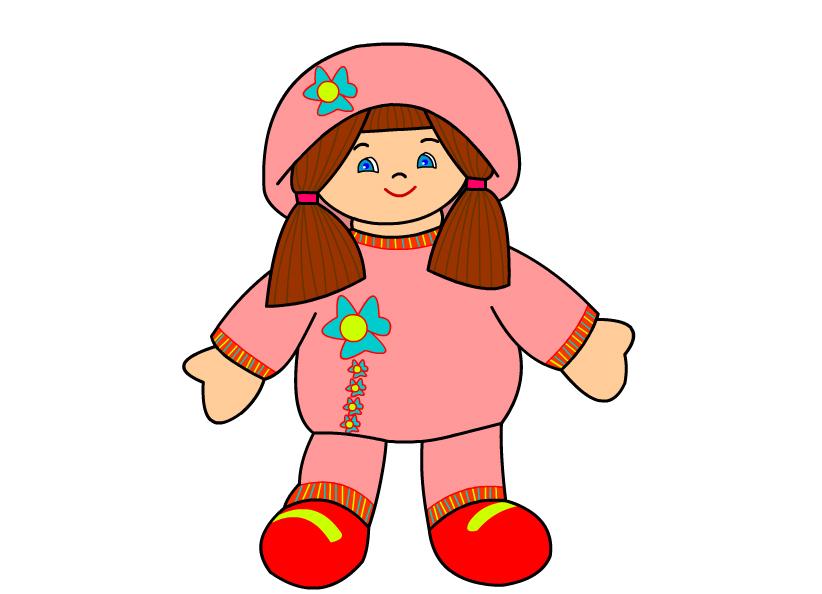 Кукла картинки нарисованные для детей