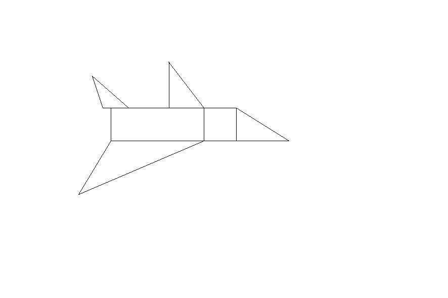 картинки с контурным изображением ракеты и самолета из геометрических фигур может