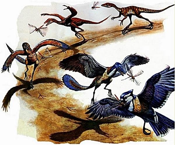 время после птицы произошли от динозавров настенное