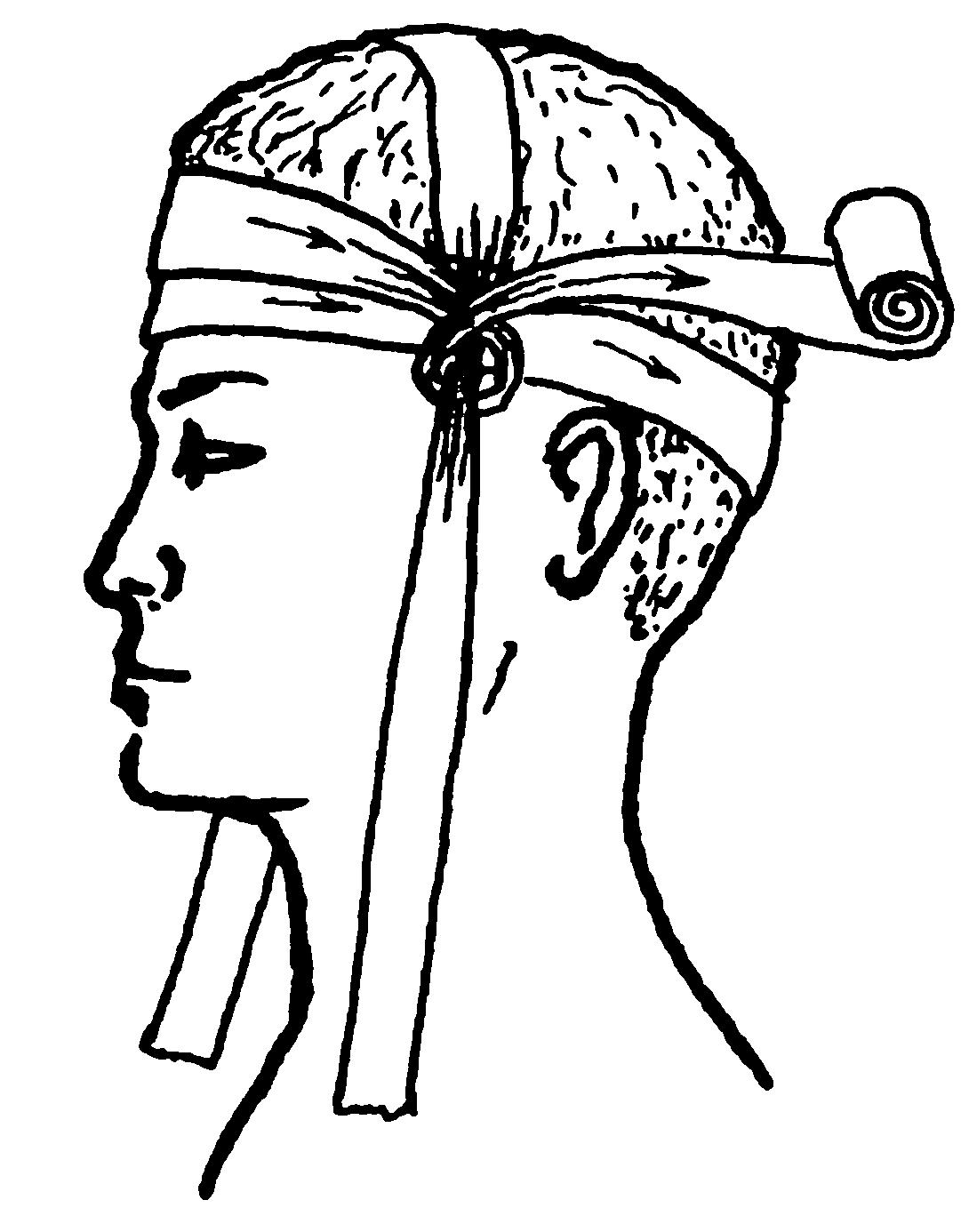 Повязка на ухо техника наложения картинки