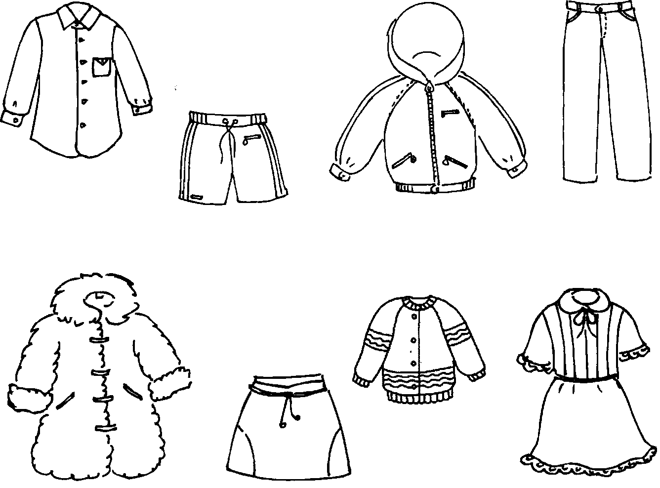 Картинки раскраска зимняя одежда