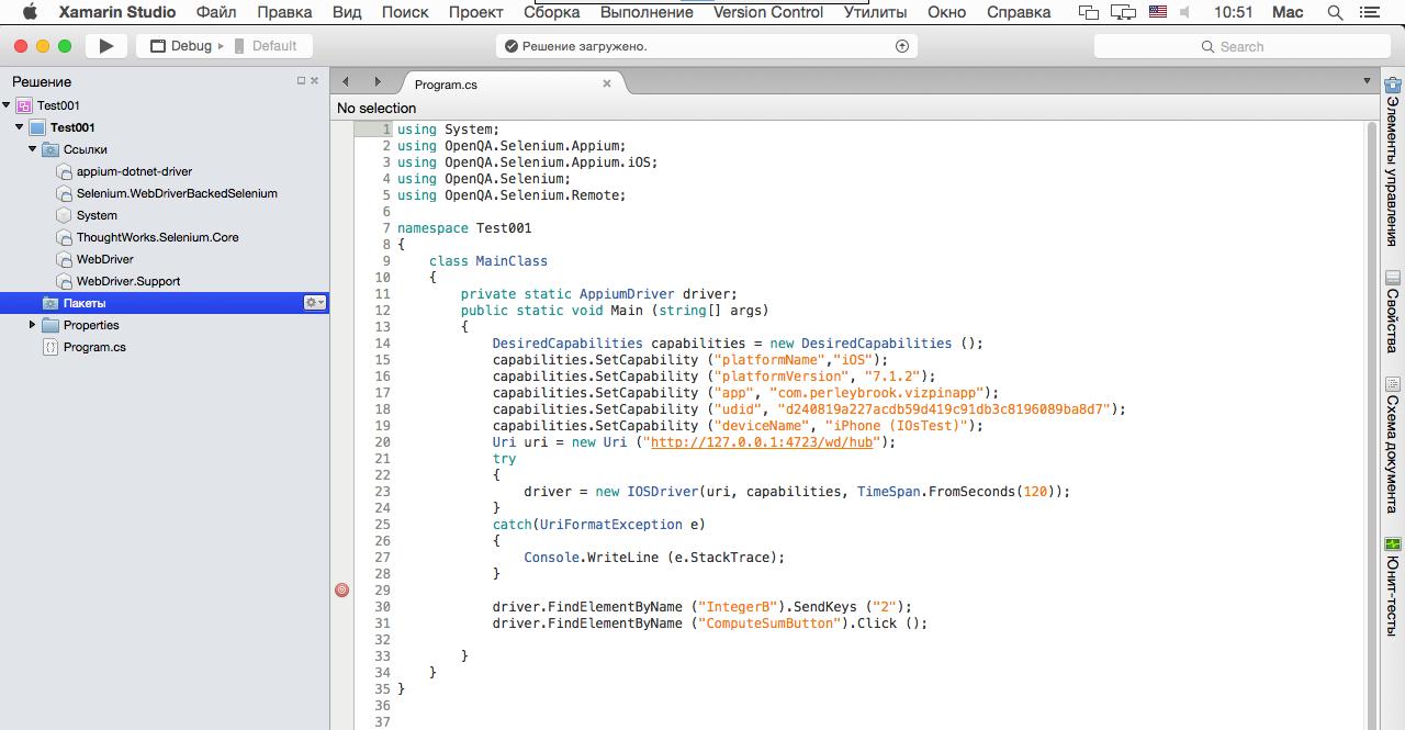 iOS Driver Selenium
