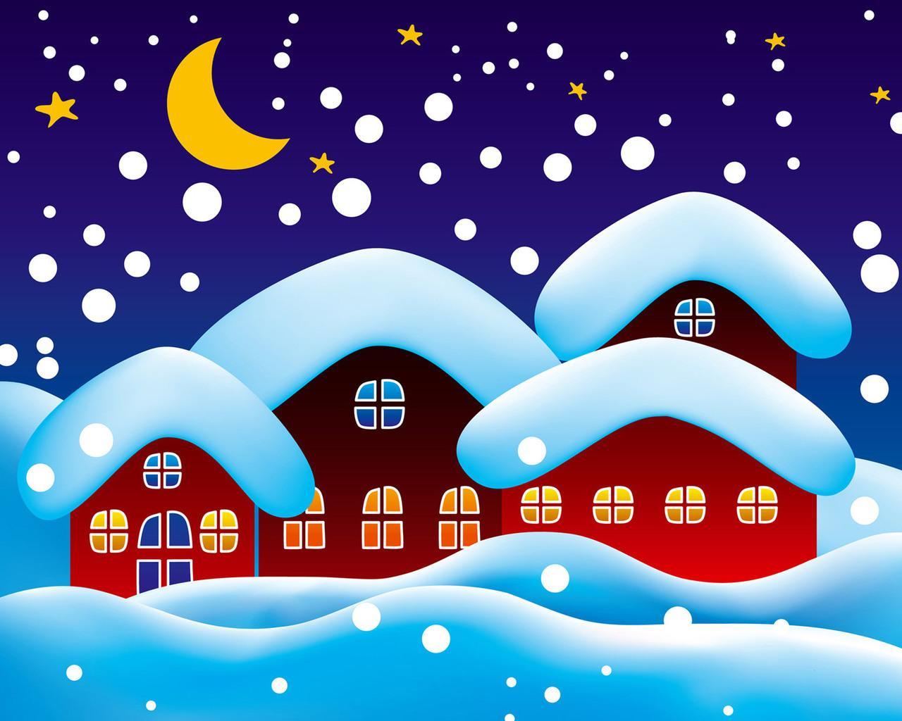 Картинки детские снегопад