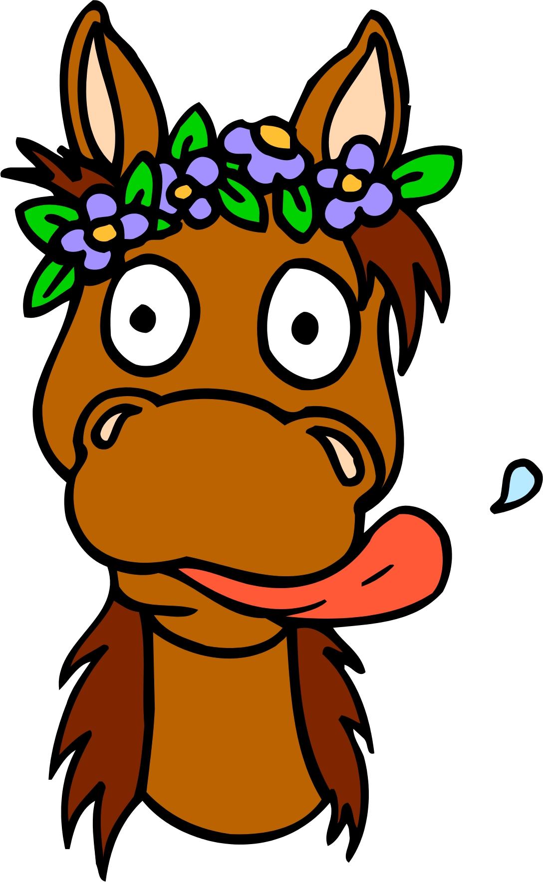 Помириться другом, смешной рисунок головы лошади