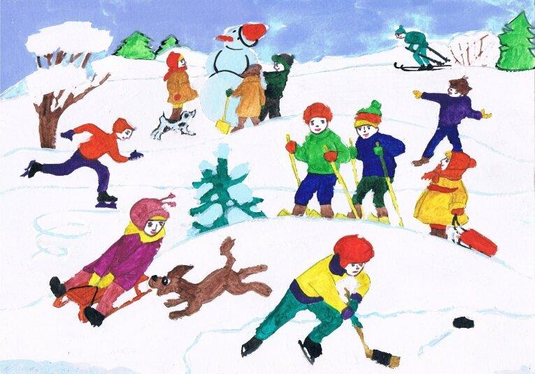 картинки н тему зимний спорт старшая группа трудом первопроходцев-нефтяников
